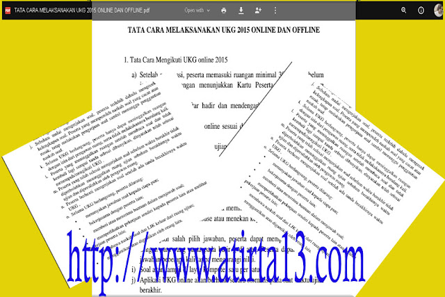 File Pdf Tata Cara Pelaksanaan UKG 2015 Online dan  Offline