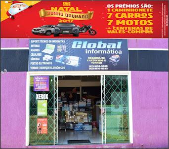 Compre produtos e serviços na Global Informática em Turvo e participe da Campanha Natal Sonho Doura