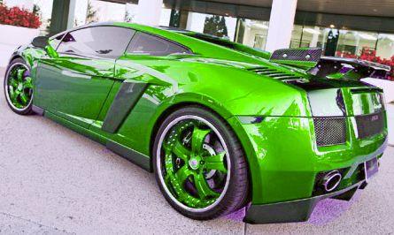 Cool cars lamborghini green