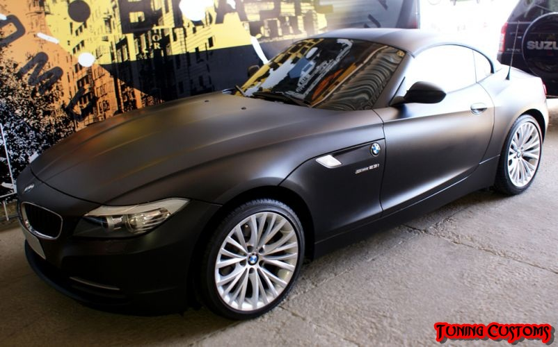 Tunning Customs Bmw Z4 Envelopada Preto Fosco