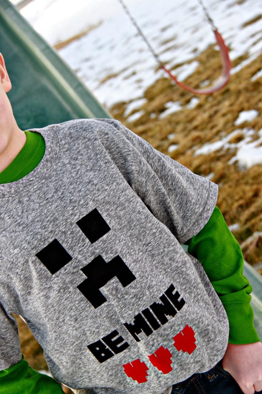 Larissa Another Day Minecraft Be MINE Valentine T Shirt