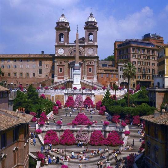 La Plaza de España (Roma - Italia).