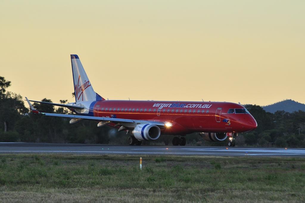 of the 4 5 daily Virgin Australia flights to Rockhampton from Brisbane