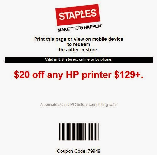 photograph relating to Staples Printable Coupon called Staples Printable Coupon codes March 2015