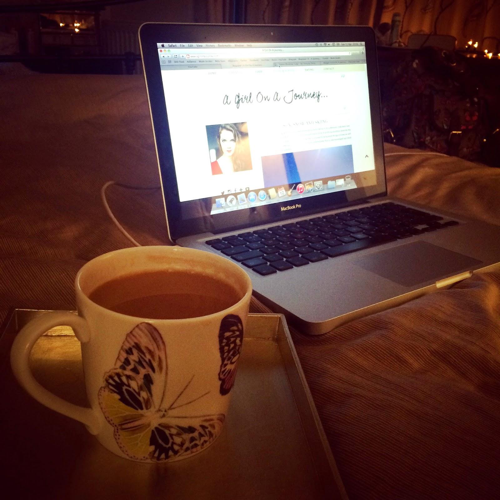 Tea laptop bed instagram rosie ladkin