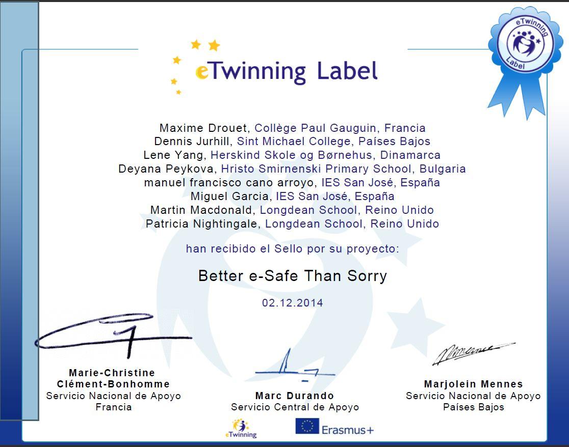 Etiqueta E-twinning
