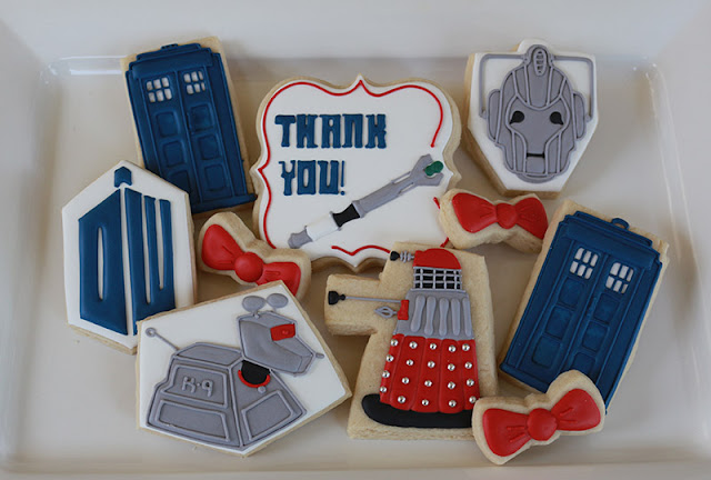 Dr. Who Thank You Cookie Package