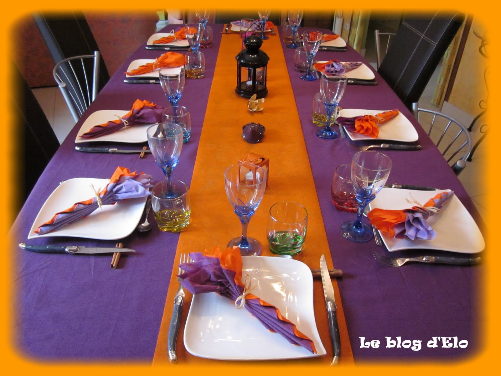 le blog d 39 elo d co de table orientale violet orange