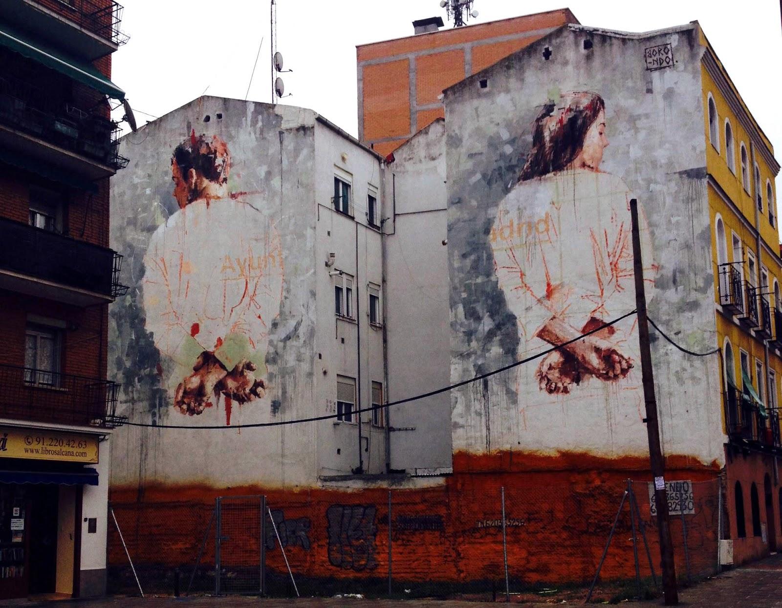 Borondo new mural tetuan madrid streetartnews for Mural street art