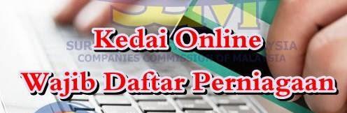 peniaga online daftar di SSM