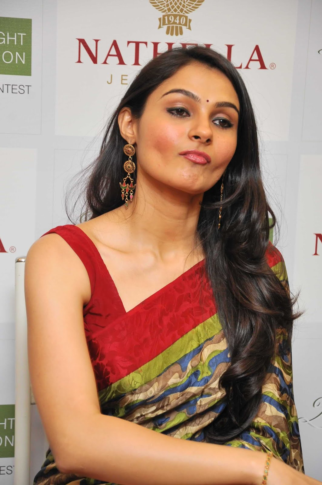andrea jeremiah spicy in saree photo gallery