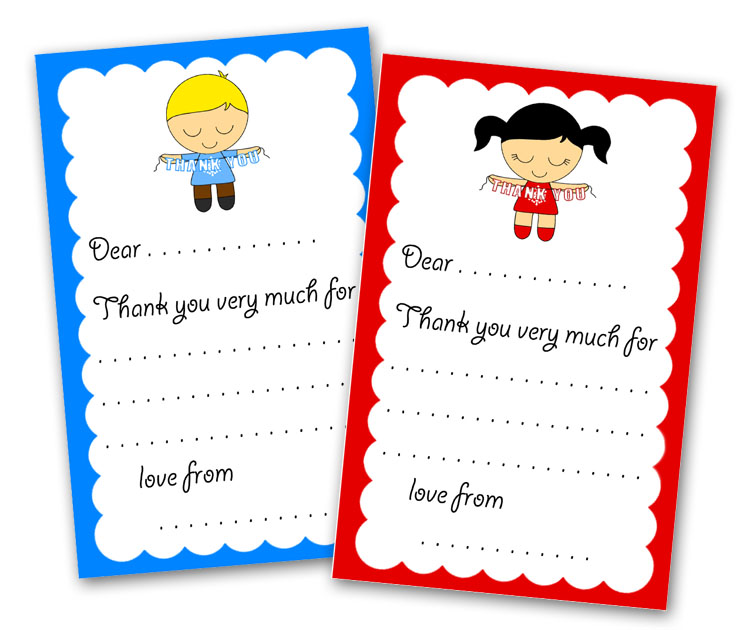 Free Printable Kids Thank You Card