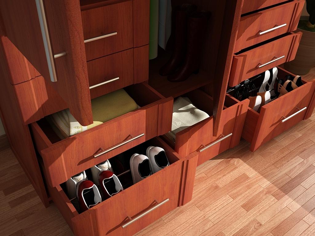 Af arquitectura y mobiliario closet en madera for Imagenes de zapateras de madera