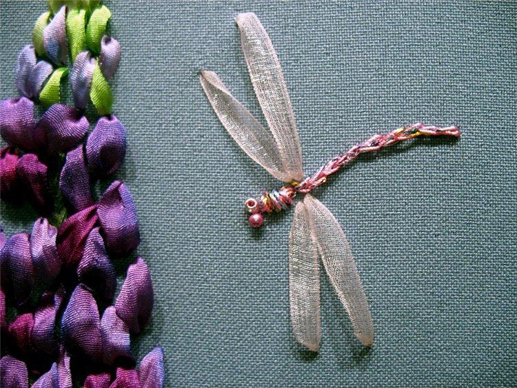 Бабочки. мастер-класс по вышивке