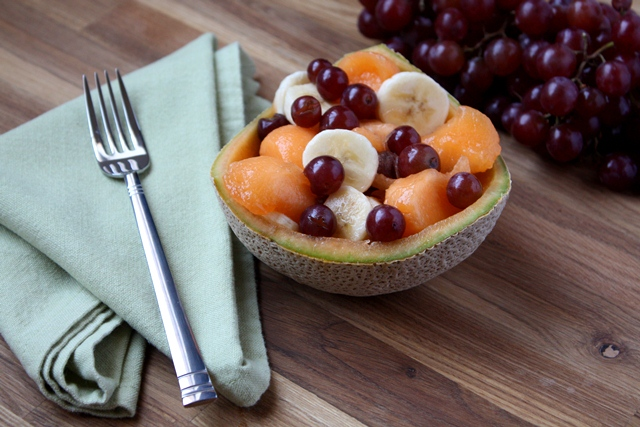 Quick and Easy Cantaloupe Bowl recipe by Barefeet In The Kitchen
