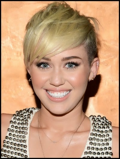 Miley Cyrus pixie haircut