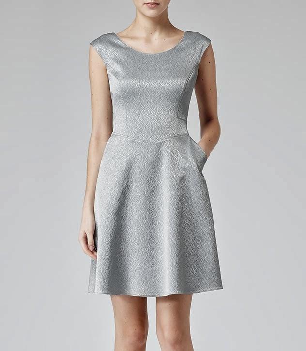 reiss silver dress