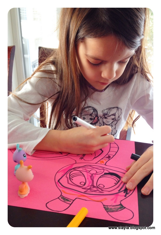 Sierra Chose A White Snail As She Wanted To Colour Her Match One Of Actual Pet Shops Aayla Pink Construction Paper On Designs
