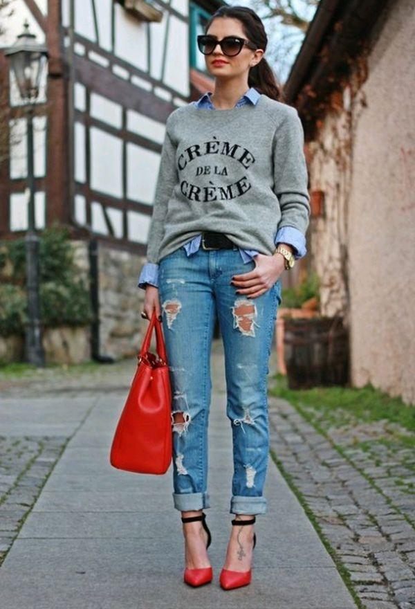 Zapatos de moda casuales color rojo | Zapatos