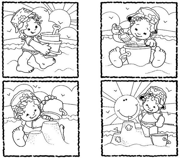 Secuencia de un cuento para colorear - Imagui