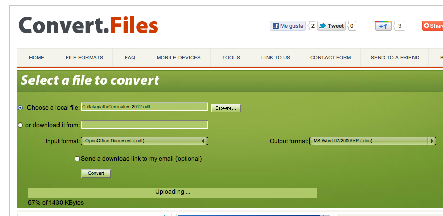convertir odt a word o pdf online