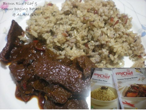 BROWN RICE PILAF & SEMUR DAGING BETAWI.. myChef