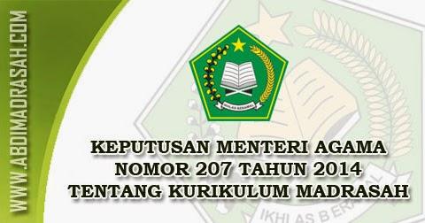 Download Kma Nomor 207 Tahun 2014 Tentang Kurikulum Madrasah Abdi Madrasah