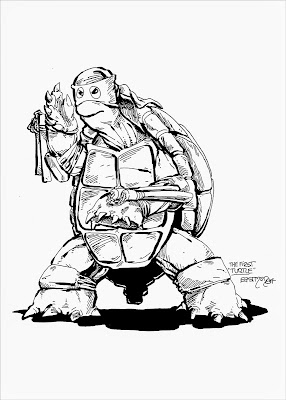 """The First Turtle"" Teenage Mutant Ninja Turtles Print by Kevin Eastman"