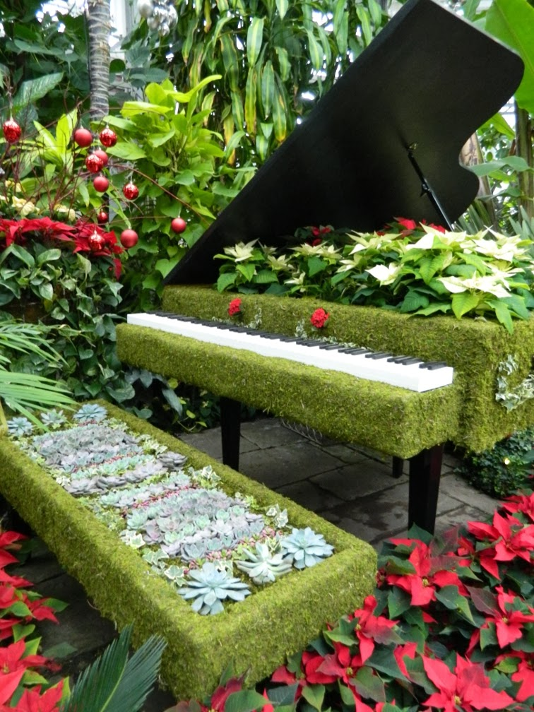 Allan Gardens Conservatory Christmas Flower Show 2013 green piano by garden muses: a Toronto gardening blog