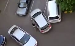 Two women parking cars Really is unbearably