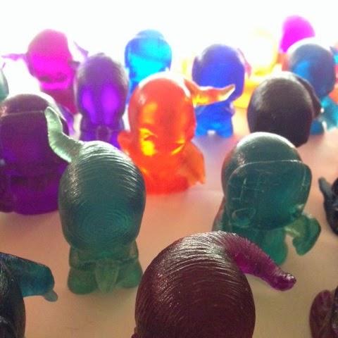 Shadows & Ghosts Solid Color Resin Figure Blind Box Series by Shadoe Delgado