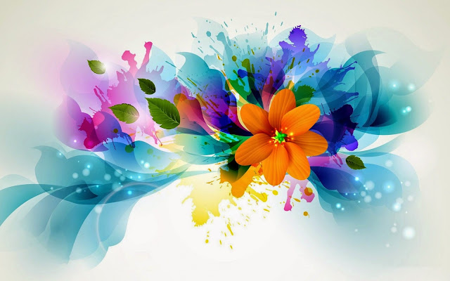 Abstract Colorful Flowers Art HD Wallpaperz wdrfs