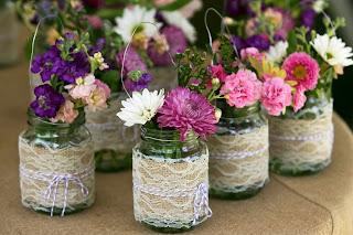 vasinhos de decoração de casamento