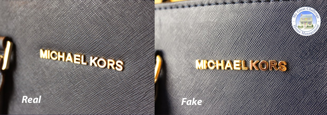 prada saffiano light blue - My Great Challenge: Michael Kors Selma - Fake VS. Real Comparison