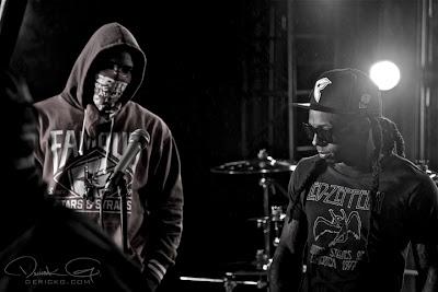 Imagen de The Game y Lil Wayne en el rodaje del video de Can A Drummer Get Some ? del nuevo disco de Travis Barker llamado Give the drummer some