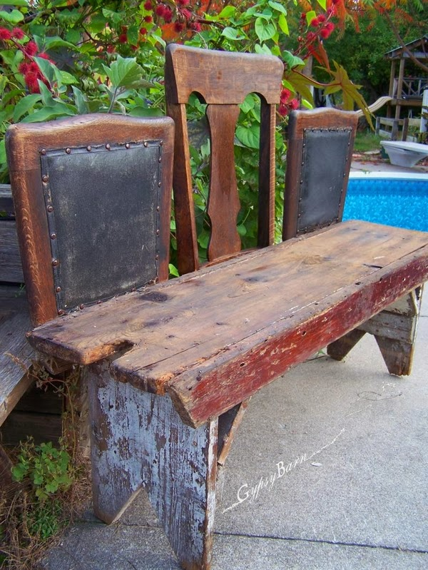 The art of up cycling upcycled furniture for gardens for Furniture upcycling