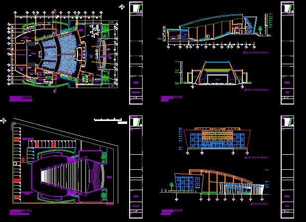 Planos gratis proyecto teatro for Proyecto comedor universitario