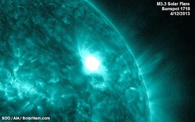 LLAMARADA SOLAR CLASE M3.3, 12 de Abril de 2013