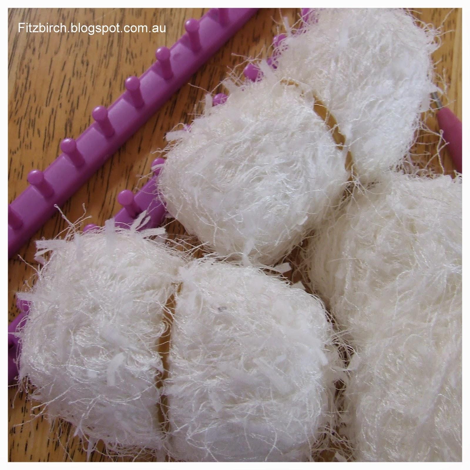 Knitting Loom Scarf Stitches : FitzBirch Crafts: Loom Knit Figure 8 Stitch Scarf