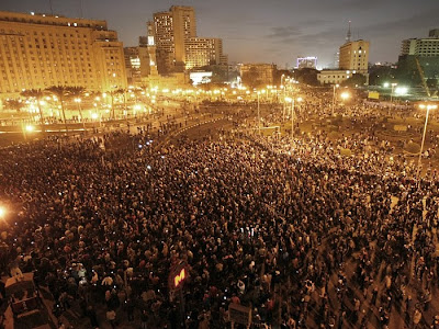manifestações contra a ditadura no Egito