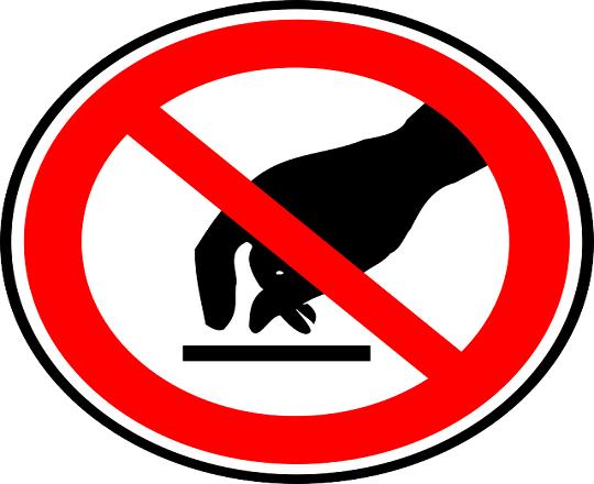 Gambar vektor Tanda  Jangan Sentu dari pixabay.com