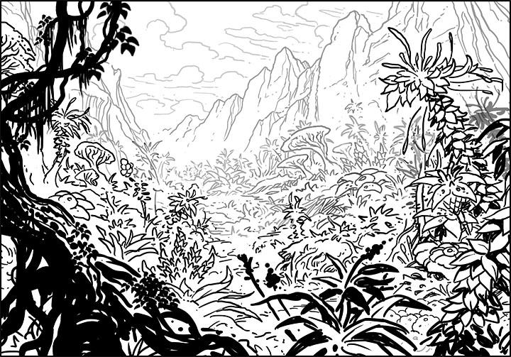Line Drawing Jungle : The art of jim nelson truga jungle