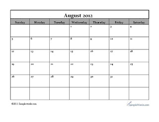free-printable calendar august 2012