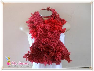 Cachecol Florata, cachecol tricô