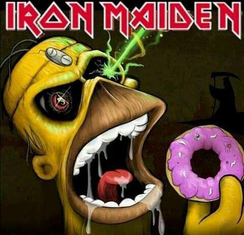 MashUp de Homer y Eddie, mascota de Iron Maiden