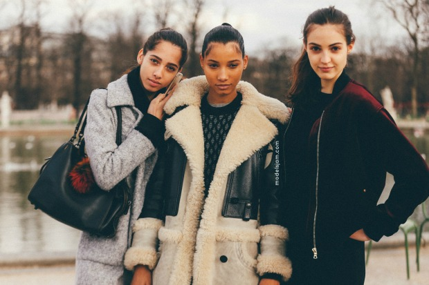 Yasmin Wijnaldum, Lineisy Montero and Camille Hurel in Paris
