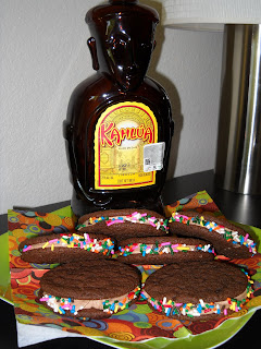 Kahlua Man fudge cookie sandwich