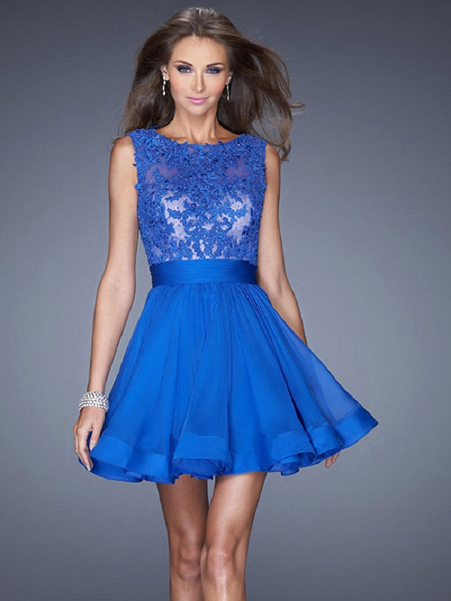 Vestido azul klein corto