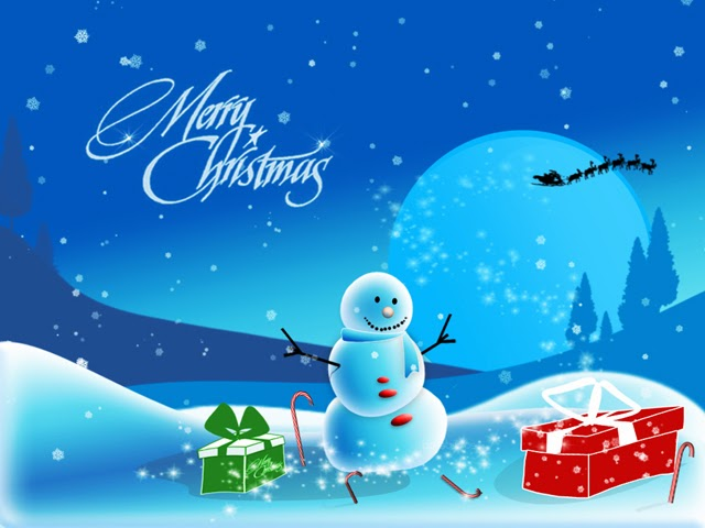 Merry Christmas 2014 Snowman Greeting Cards