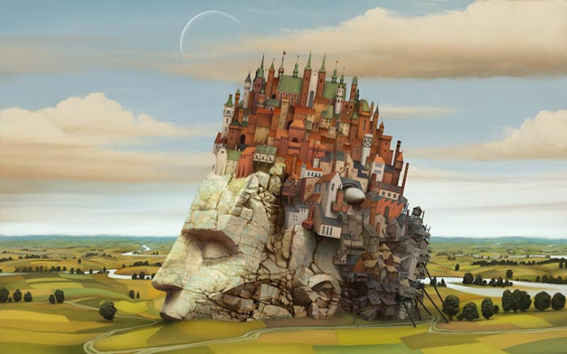 interpretarea viselor freud vis Jacek Yerka - Dream World .jpg